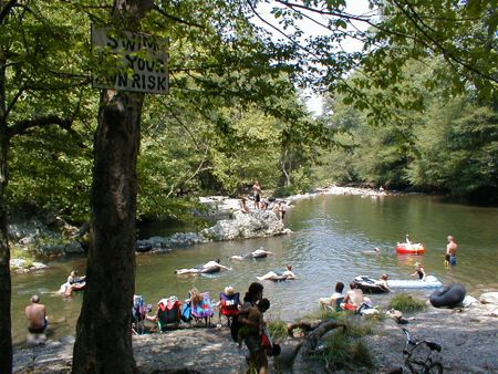 Greenbrier island campground great smoky mountains tennessee